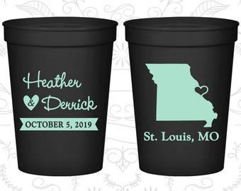 Missouri Wedding Cups, Missouri Wedding, Imprinted Beer Cups, Destination Wedding, State Cups, Wedding Cups (124)