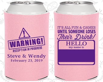 Dusty Rose Wedding, Can Coolers, Dusty Rose Wedding Favors, Dusty Rose Wedding Gift, Dusty Rose Wedding Ideas (C580)