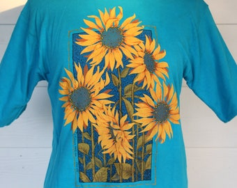 Sunflower Shirt- 90's sunflower tee
