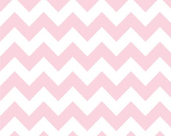 Baby Pink Medium Chevron by Riley Blake 1 Yard