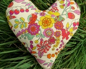 Breast Cancer Pillow.  Masectomy Pillow. Made from Liberty Lawn.  Heart shaped cushion.