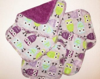 Minky / Velour Cloth Wipes 15 x15cm - Set of 5 - So Soft -  Australian Made