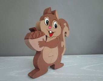 My buddy the squirrel puzzle wood