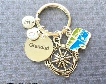Personalised Grandad gift - Birthday gift for Grandad - Camper Van keyring - Grandad keyring - Camping gift - Stocking filler - Etsy UK