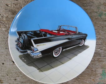 1957 Bel Air Delphi Collector Plate 5 Dream Machines by Philip Palma 1989 in Original Box and Paperwork Milestone Car Society