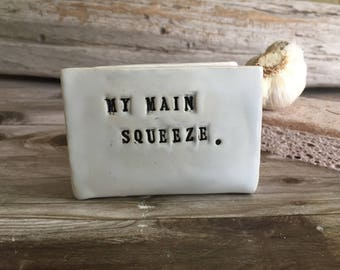 "NEW! Kitchen Sponge Holder - ""My Main Squeeze"""