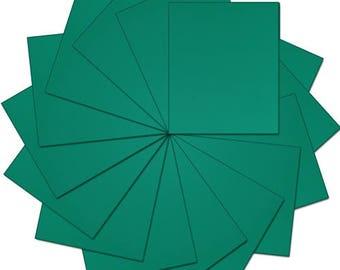 """Pre-cut Sheets Solid Color Heat Transfer Vinyl - Green - 15 sheets -10""""x12"""""""