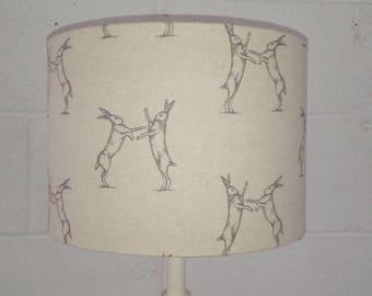 Boxing Hares Lampshade