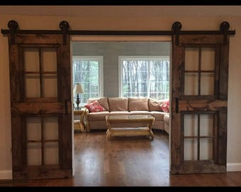 Custom French barn doors for Kristy