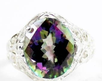 On Sale, 20% Off, Mystic Fire Topaz, 925 Sterling Silver Ring, SR114
