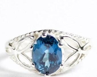 On Sale, 30% Off, London Blue Topaz, 925 Sterling Silver Ring, SR137