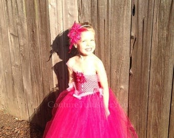 20% OFF SUMMER SALE Aurora, Sleeping Beauty Tulle Dress, pink tulle dress, hot pink, Disney princess dress, tulle tutu dress, girls tulle dr