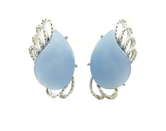 Vintage Blue Thermoset Earrings