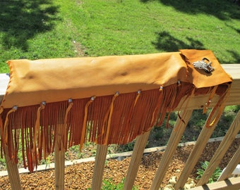 Flute, Pipe or Drum Stick Bag of Gold Deerskin