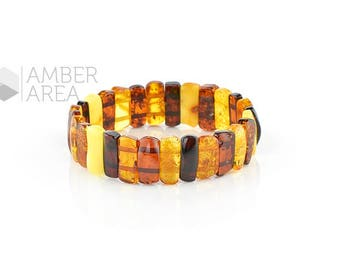 Multicolor Amber Bracelet Beads