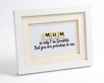 Mum Scrabble Art