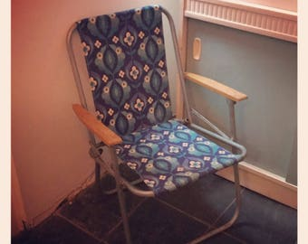 Retro 1970's Camping Deck Chair