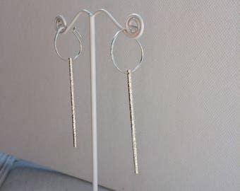 Saturday Night Earrings - Bar Earrings - Medium - Sterling Silver - Handmade