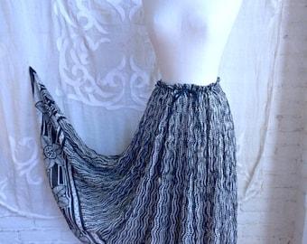 SUMMER SALE Indian Gauze Cotton Maxi Skirt