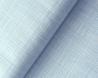 Jane Makower 'Discounted' Inprint Pale Blue Check Toner Patchwork Quilting Dressmaking Fabric