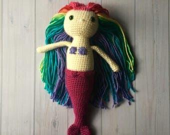 Custom Mermaid Toy - Handmade Mermaid Doll - Plush Toy - Design A Mermaid Doll