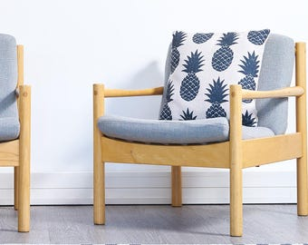 Vintage Ercol armchairs danish style - 2 availble