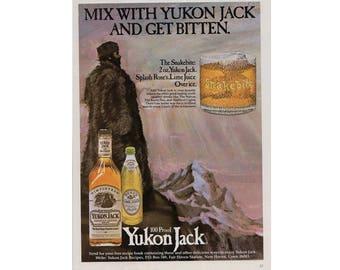 Vintage magazine advertisement for Yukon Jack Canadian Whisky - 6