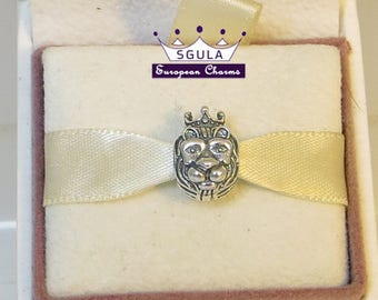 925 Sterling Silver Charm European bead lucky Lion king ,fit Pandora bracelet and European Bracelets