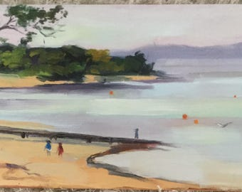 Hazy Day At The Beach In Cowes On Phillip Island  In Australia ; I'm a local Artist