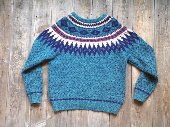 Vintage Woolrich Fair Isle Sweater Nordic Scandinavian