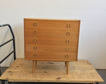 Vintage Danish Modern Oak Low Dresser / Chest - Free NYC Delivery!
