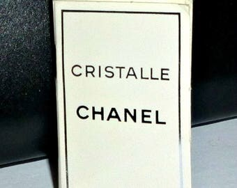 Vintage CRISTALLE CHANEL Mini Perfume Vial on Card 1990s Designer Fragrance Sample CHANEL Eau de Parfum Half Full 90s Haute Couture Gift Her