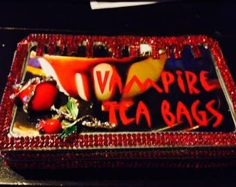 Vampire Tea Bags Tampon case, Tampon holder