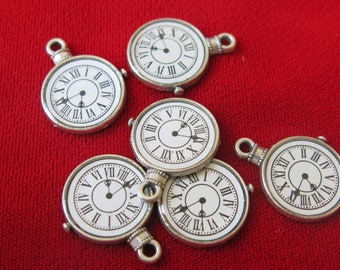 "BULK! 15pc ""watch"" charm in antique silver style (BC23)"