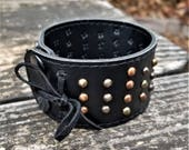 One-of-a-Kind Upcycled Leather Wrist Cuff (Large)