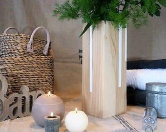 Wood vase OXZO