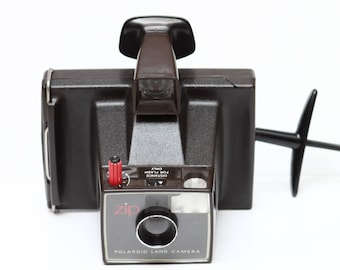 Vintage Polaroid Zip Instant Film Land Camera Made in UK 1970s