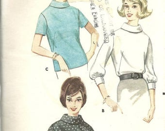 25% OFF Butterick 3217   Misses Blouse Pattern with Cowl Neckline    Size 14