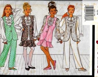 Butterick 3167    Girl's Vest, Blouse, Skirt and Pants    Size 12-14   Uncut