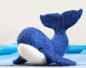 Whale Needle Felting Kit - Needle Felted Whale - Whale Craft Kit - craft kit gift - needle felted whale - craft kit for adults - blue planet