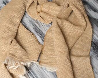 100% Merino Wool Scarf Gold