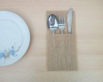 Cutlery- cutlery pocket - tools - Pocket - set Wedding Table Decor - Rustic Art