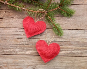 48 Christmas red Ornaments, Rustic Christmas Ornaments, Christmas Tree Pendant Ornament, Home Home Ornament for Christmas Tree