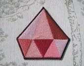 Steven Universe Pink Diamond embroidered iron on patch.