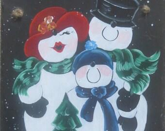 SNOWMAN FAMILY SLATE
