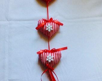 Christmas hearts to hang.