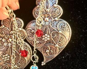 Large stunning dangle earrings!