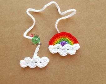 Rainbow and clouds Umbilical Cord Tie for Newborn Baby - MADE TO ORDER