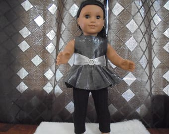 "Handmade for 18"" Dolls - 2 piece Outfit - Top and Leggings Set - For any 18"" Dolls"