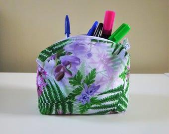 British Floral Makeup bag